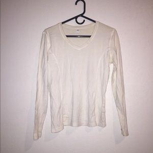 Russel Athletic women's white long sleeved tshirt